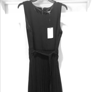 DKNY Pleated Midi Hi-lo Dress sz 8 new with tags!!
